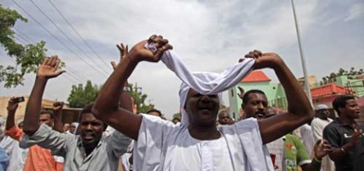 Sudanese-anti-government-protesters